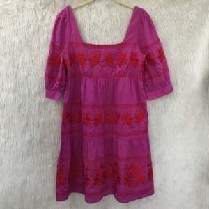 Moda international purple floral boho dress